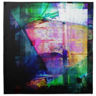 El CD colorido encajona el collage Servilletas Imprimidas
