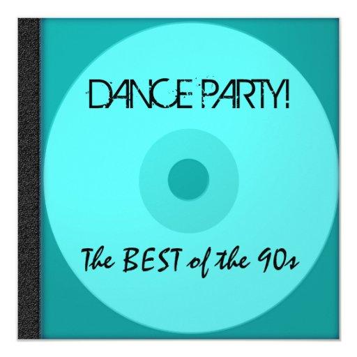 """El CD del baile invita Invitación 5.25"""" X 5.25"""""""