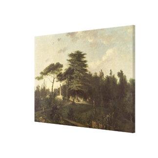 El cedro de Líbano en el Jardin des Plantes Impresiones En Lona Estiradas