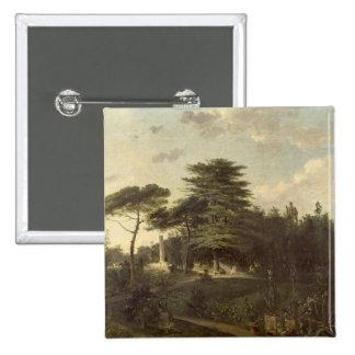 El cedro de Líbano en el Jardin des Plantes Pin Cuadrada 5 Cm