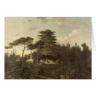 El cedro de Líbano en el Jardin des Plantes Tarjeta De Felicitación