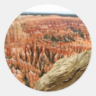 El cedro rompe al pegatina del parque nacional