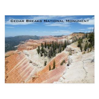 El cedro rompe el monumento nacional postal
