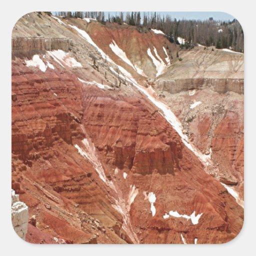 El cedro rompe el monumento nacional, Utah, los Calcomanías Cuadradases