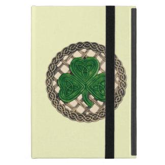 El Celtic beige de encargo del trébol anuda la iPad Mini Cárcasa