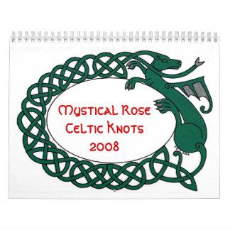 El Celtic color de rosa místico anuda el calendari Calendarios De Pared