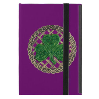 El Celtic púrpura de encargo del trébol anuda la iPad Mini Protectores
