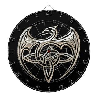 El Celtic trino del dragón de plata y negro anuda