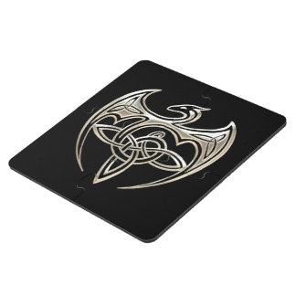 El Celtic trino del dragón de plata y negro anuda Posavasos De Puzzle