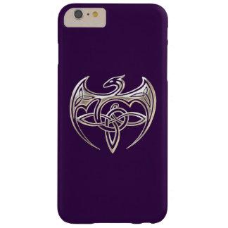 El Celtic trino del dragón de plata y púrpura Funda De iPhone 6 Plus Barely There