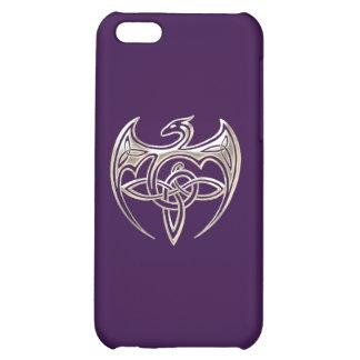 El Celtic trino del dragón de plata y púrpura