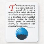 El cementerio cristiano alfombrilla de ratón