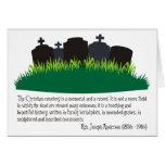El cementerio cristiano felicitación