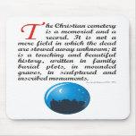 El cementerio cristiano tapete de ratón