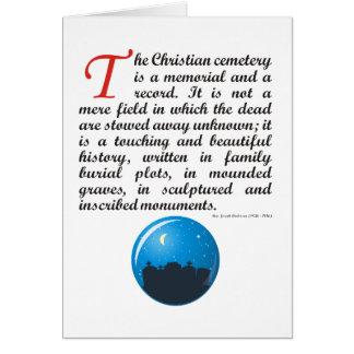 El cementerio cristiano tarjeta de felicitación