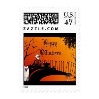 El cementerio del mascota tienta el franqueo de timbres postales