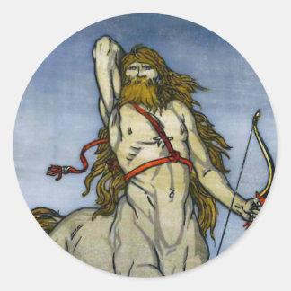 El Centaur Pegatina Redonda