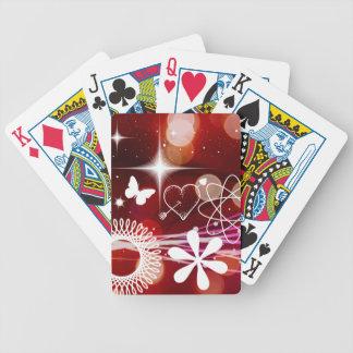 El centelleo del centelleo protagoniza espirales d baraja cartas de poker
