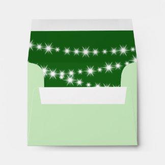 El centelleo enciende el sobre de RSVP (el verde)