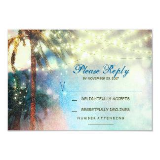 el centelleo enciende la tarjeta de RSVP del boda Invitación 8,9 X 12,7 Cm