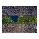El Central Park de New York City desde arriba Postales