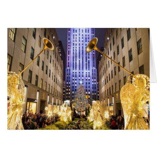 El centro 2013 de Rockefeller del árbol Felicitaciones