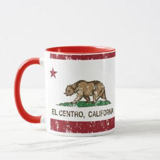 EL Centro de la bandera del estado de California Taza