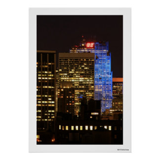 El centro de Rockefeller encendió para arriba el a Poster