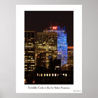 El centro de Rockefeller encendió para arriba el a Impresiones
