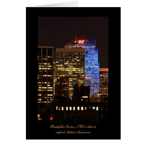 El centro de Rockefeller encendió para arriba el Tarjeta De Felicitación