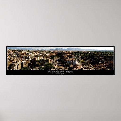 El centro histórico de Roma Póster