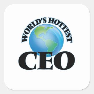 El CEO más caliente del mundo Calcomanías Cuadradass