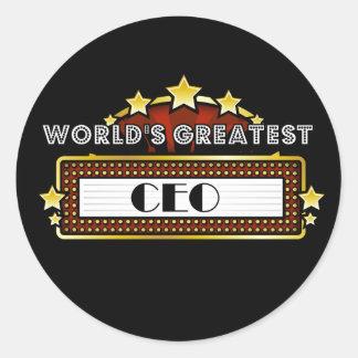 El CEO más grande del mundo Etiqueta Redonda