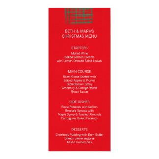 """El cepillo de Navidad comprueba el menú rojo de la Invitación 4"""" X 9.25"""""""