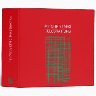 El cepillo de Navidad comprueba la carpeta roja
