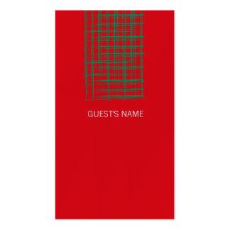 El cepillo de Navidad comprueba la tarjeta roja Tarjetas De Visita