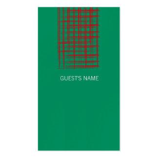 El cepillo de Navidad comprueba la tarjeta verde Tarjetas De Visita