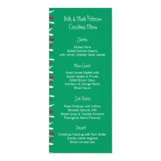 """El cepillo de Navidad raya el menú verde de la Invitación 4"""" X 9.25"""""""