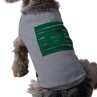 El cepillo de Navidad raya la camiseta verde del p Playera Sin Mangas Para Perro