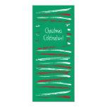 El cepillo de Navidad raya la invitación larga Invitación 10,1 X 23,5 Cm