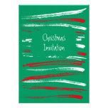El cepillo de Navidad raya la invitación verde