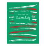 El cepillo de Navidad raya la pequeña invitación Invitación 10,8 X 13,9 Cm