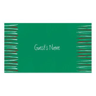 El cepillo de Navidad raya la tarjeta verde del lu Plantilla De Tarjeta De Negocio
