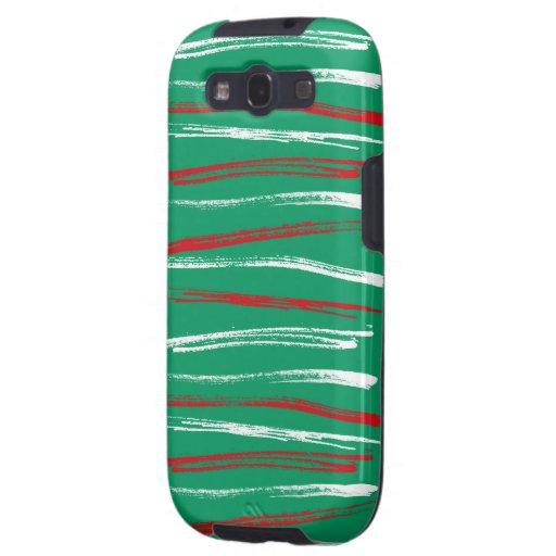 El cepillo de Navidad raya las cajas verdes de la  Galaxy SIII Cárcasas