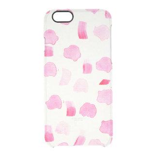 El cepillo rosado femenino moderno de la acuarela funda clearly™ deflector para iPhone 6 de uncommon