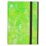 El cepillo verde frota ligeramente la caja del iPa