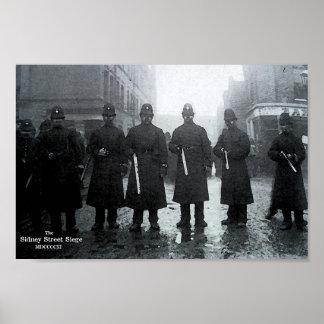 El cerco 1911 de la calle de Sidney Póster