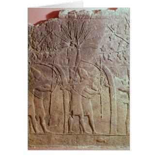 El cerco de Alammu del ejército de Sennacherib Tarjetón
