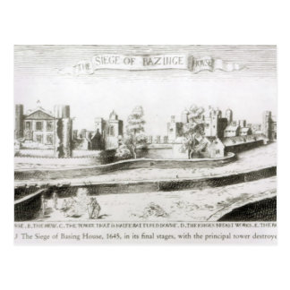 El cerco de basar la casa, 1645 postal