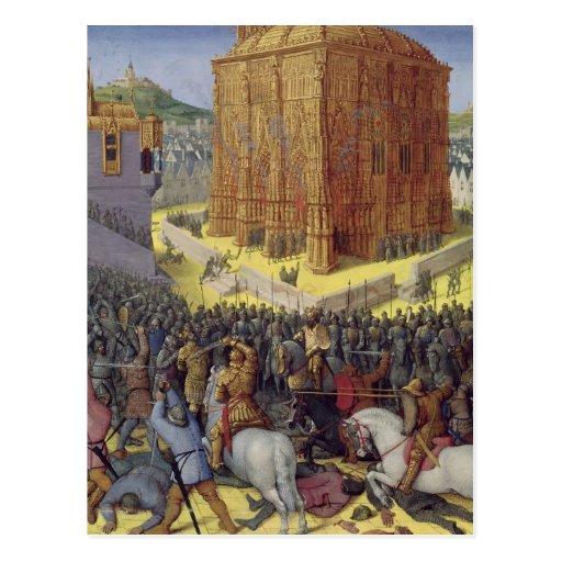 El cerco de Jerusalén por Nebuchadnezzar Postal